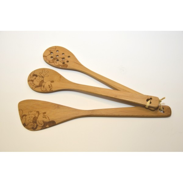 Disney Park Mickey Mouse Wooden Spoons set -3