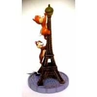 Disneyland Paris Chip and Dale Eiffel Tower Figure