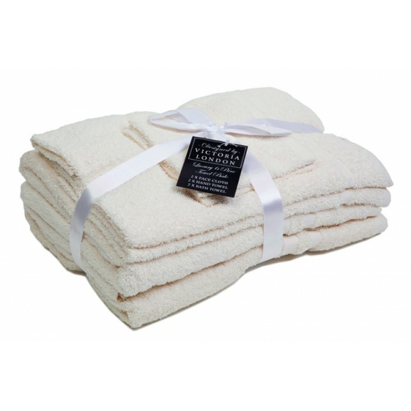 Six Piece White Towel Bale
