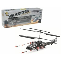 Remote Control Military Helicopter With Gyro & Twin Firing Rocket
