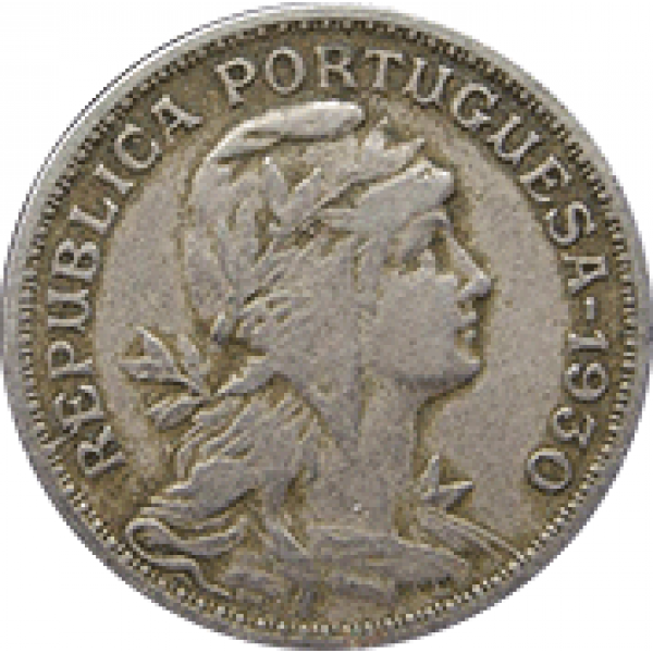 1930 Cabo Verde 50 Centavos