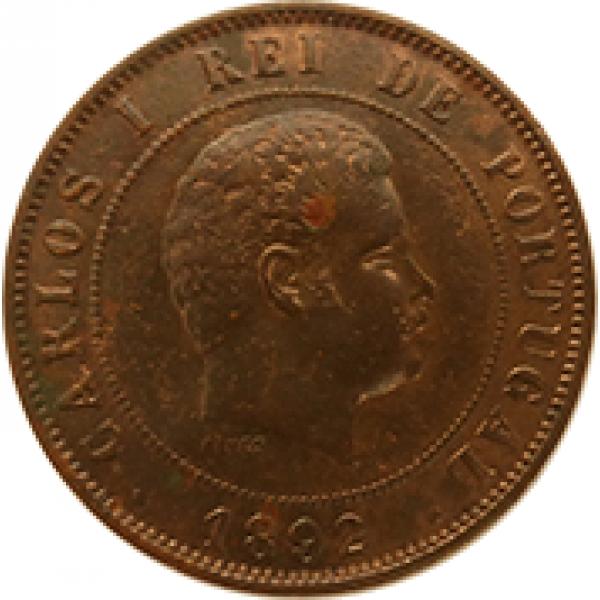 1892 D. Carlos I 20 Réis