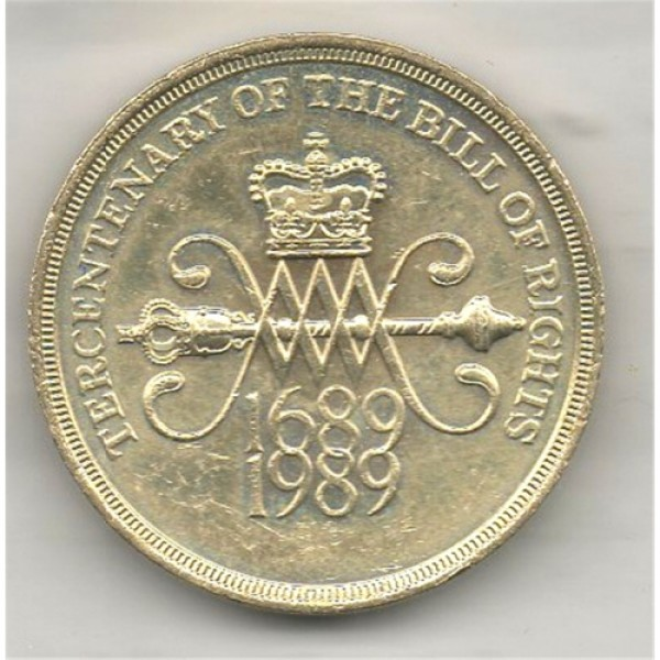 1989 £2 Pound Coin English Version - Bill of Rights