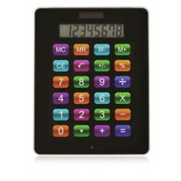 Battery & Solar Powered Jumbo Calculator - iPad Style