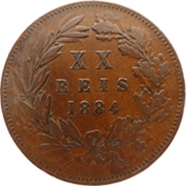 1884 D. Luis I XX Réis