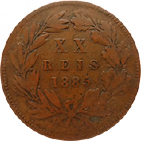 1885 D. Luis I XX Réis